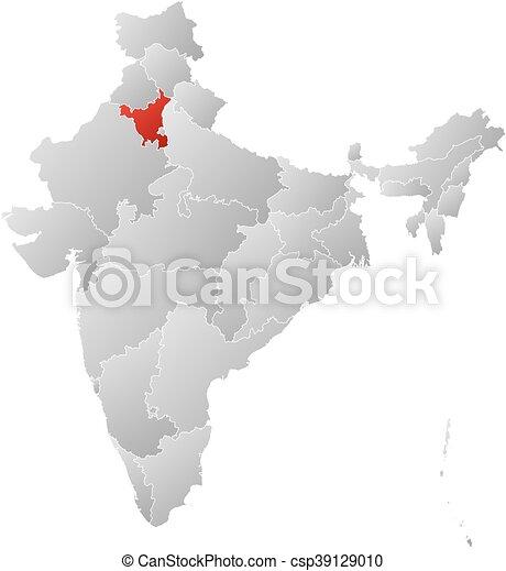 Map - India, Haryana