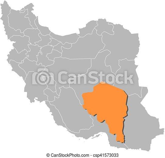 Map iran kerman Map of iran with the provinces kerman