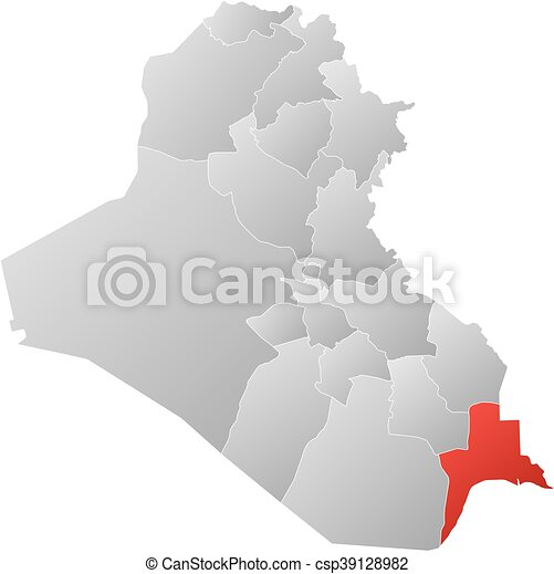 map iraq basra csp39128982