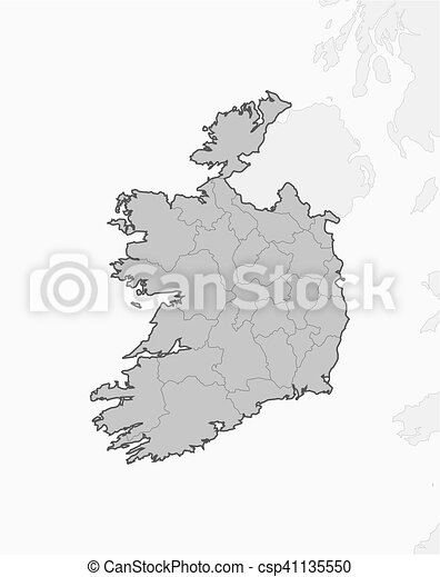 Map Of Ireland Black And White.Map Ireland Map Of Ireland And Nearby Countries Ireland Is