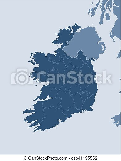 Map ireland map of ireland and nearby countries ireland map ireland csp41135552 gumiabroncs Image collections