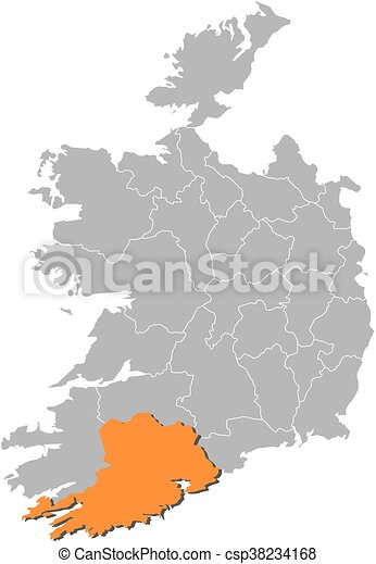 Map ireland cork Map of ireland with the provinces cork clip