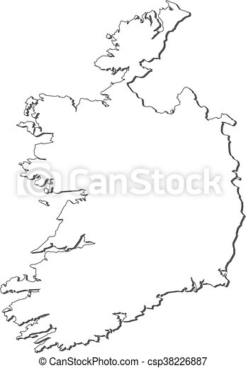 Map Of Ireland Vector.Map Ireland