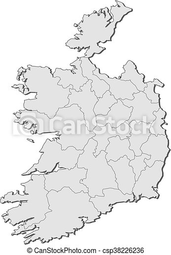 Map Of Ireland Black And White.Map Ireland Map Of Ireland With The Provinces