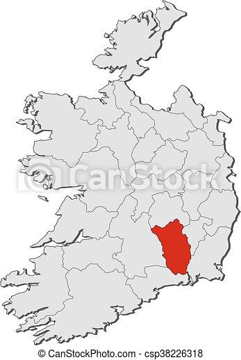 Map Of Ireland Showing Kilkenny.Map Ireland Kilkenny Map Of Ireland With The Provinces Kilkenny