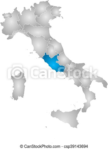 Map italy lazio Map of italy with the provinces filled eps