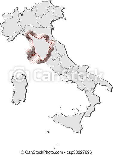 Tuscany On Map Of Italy.Map Italy Tuscany
