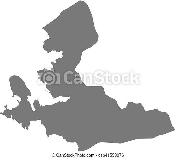 Map izmir turkey Map of izmir a province of turkey vectors
