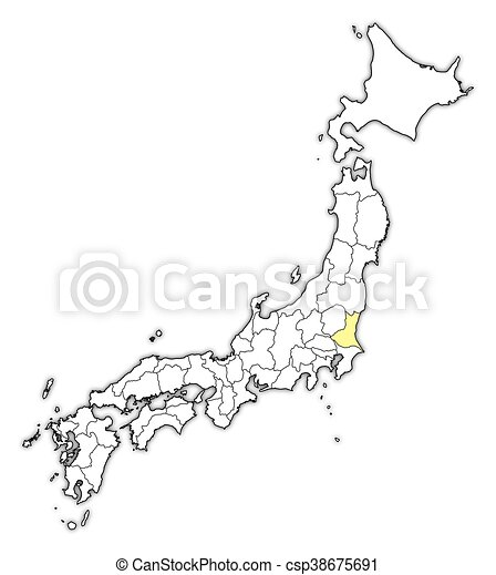 Ibaraki Japan Map.Map Japan Ibaraki Map Of Japan With The Provinces Ibaraki Is