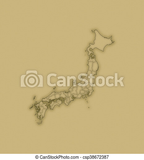 Map - Japan - csp38672387