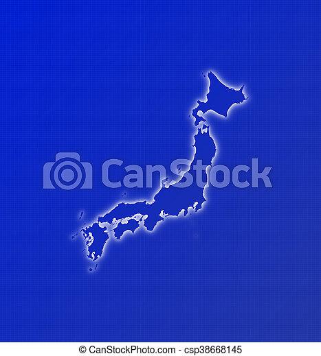 Map - Japan - csp38668145