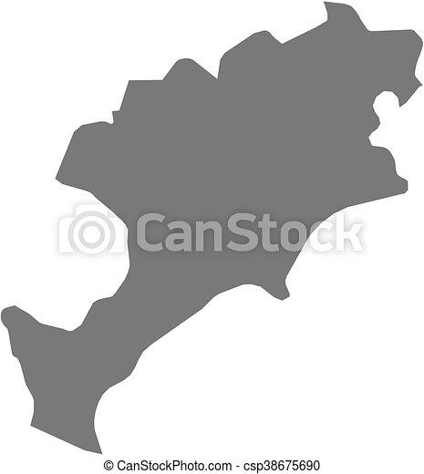 Map - Jutiapa (Guatemala) - csp38675690