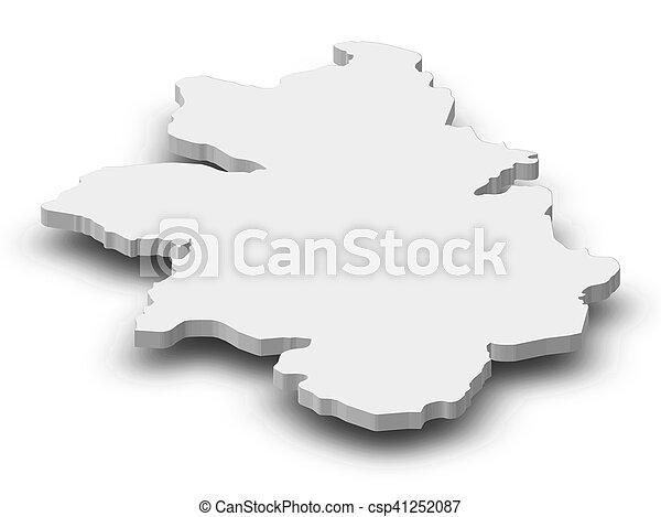Map kankan guinea 3dillustration Map of kankan a