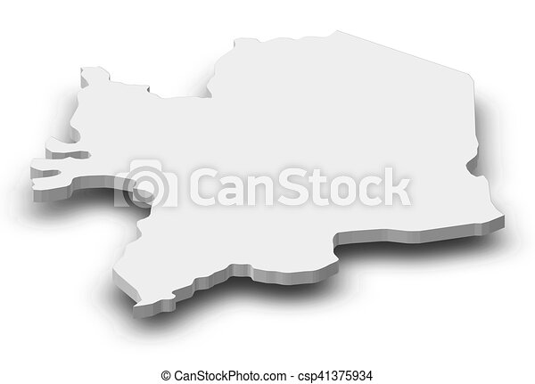 Map - Kara (Togo) - 3D-Illustration