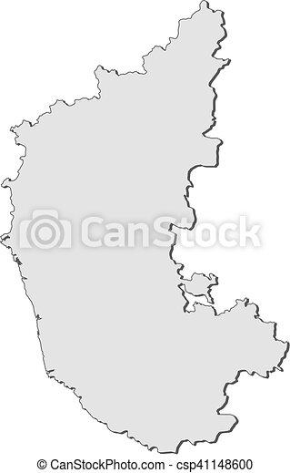 Map - karnataka (india) Map of karnataka, a province of india. Draw Map Of India on