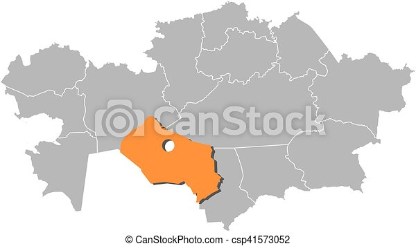 Map kazakhstan kyzylorda Map of kazakhstan with the clipart