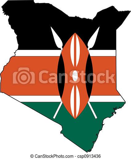 Map Kenya - csp0913436