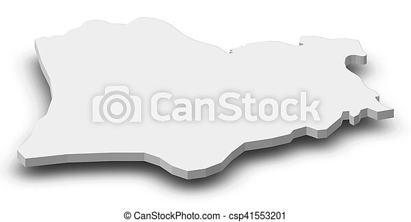 Map kirklareli turkey 3dillustration Map of stock