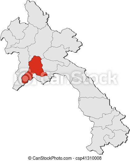 Map Laos Vientiane Province Map Of Laos With The Vector - Laos map vector