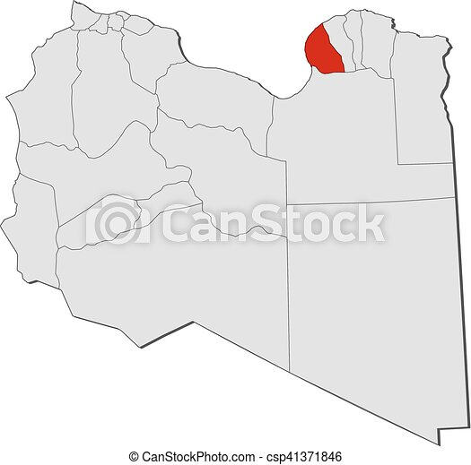 Map libya benghazi Map of libya with the provinces eps