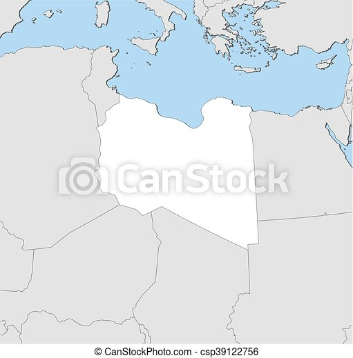 Map libya map of libya and nearby countries libya is highlighted map libya csp39122756 gumiabroncs Gallery