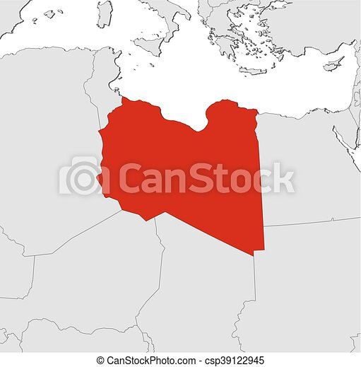 Map libya map of libya and nearby countries libya is eps map libya csp39122945 gumiabroncs Choice Image