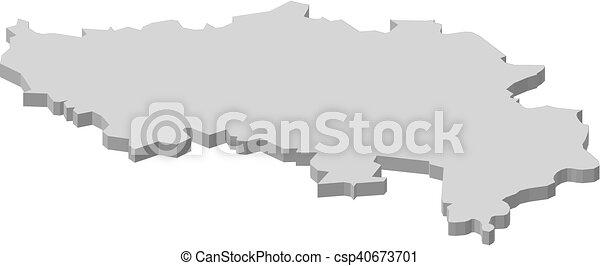 map liege belgium 3d illustration