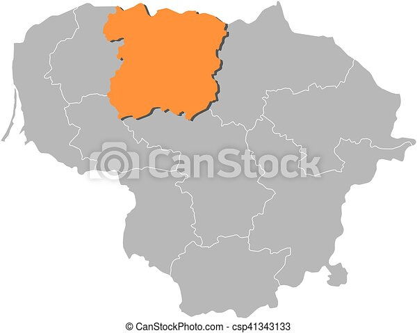 Map lithuania siauliai Map of lithuania with the vectors