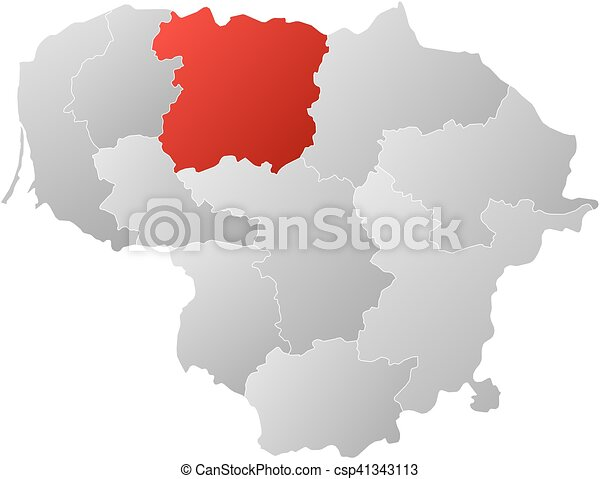 Map lithuania siauliai Map of lithuania with the vector clip