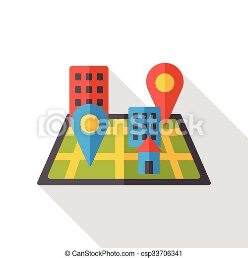 map location flat icon - csp33706341