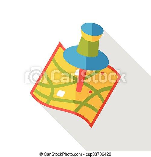 map location flat icon - csp33706422