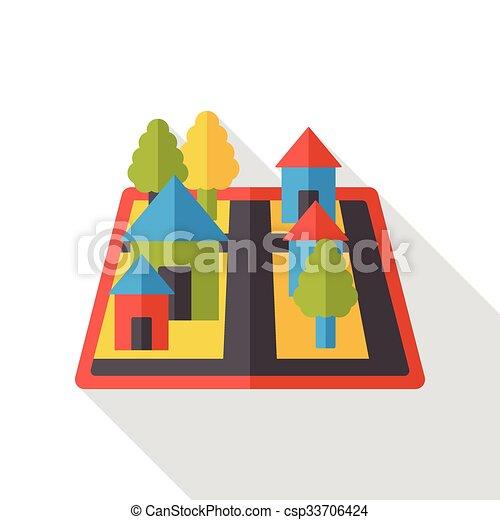 map location flat icon - csp33706424