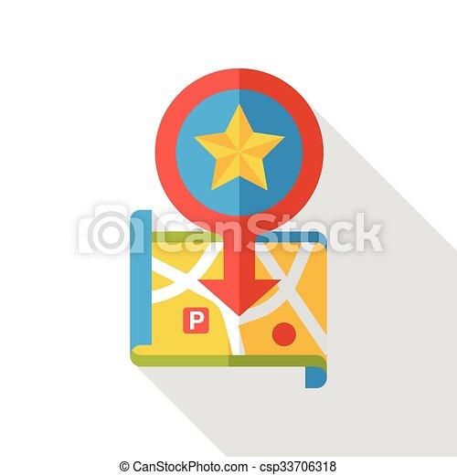 map location flat icon - csp33706318