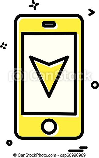 map location mobile navigation icon vector design - csp60996969