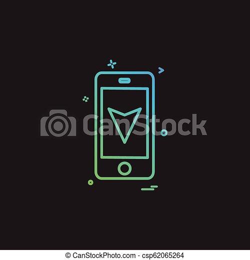 map location mobile navigation icon vector design - csp62065264