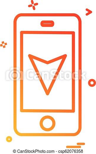 map location mobile navigation icon vector design - csp62076358