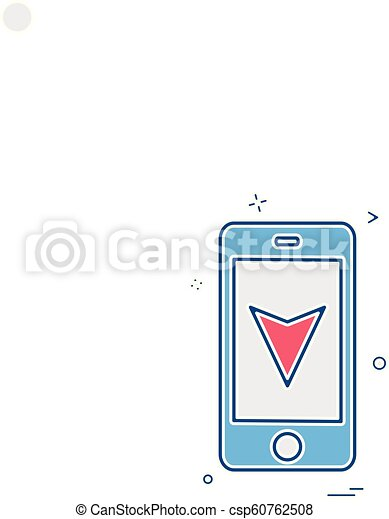 map location mobile navigation icon vector design - csp60762508