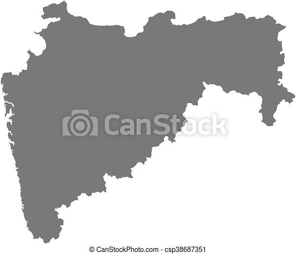 Map   Maharashtra (India)   Csp38687351