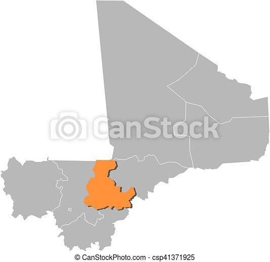 Map mali segou Map of mali with the provinces segou is