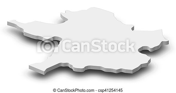 Map Meath Ireland 3d Illustration Map Of Meath A Province Of