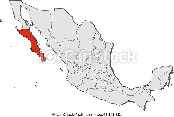 Map Mexico Baja California Sur Map Of Mexico With The Provinces