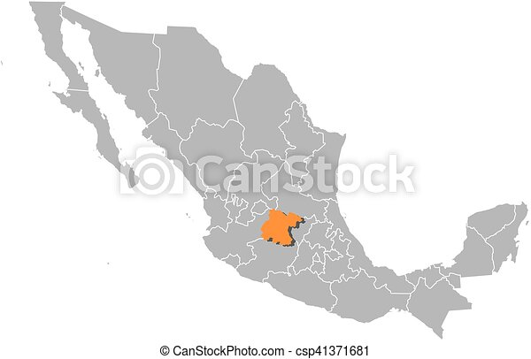 Mexico Map Guanajuato.Map Mexico Guanajuato Map Of Mexico With The Provinces