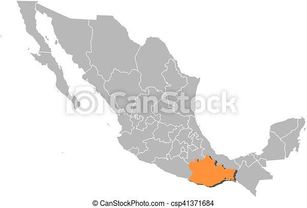 map mexico oaxaca csp41371684