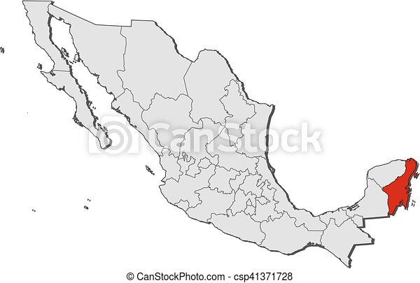 Map Mexico Quintana Roo Map Of Mexico With The Provinces