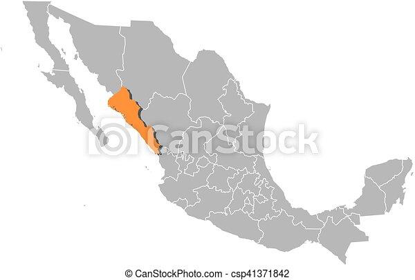 map mexico sinaloa csp41371842