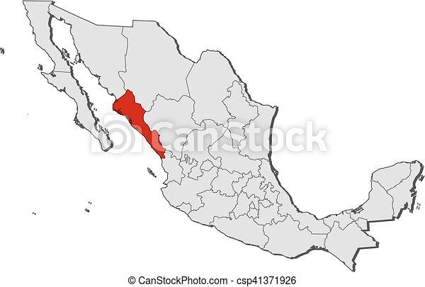 map mexico sinaloa csp41371926