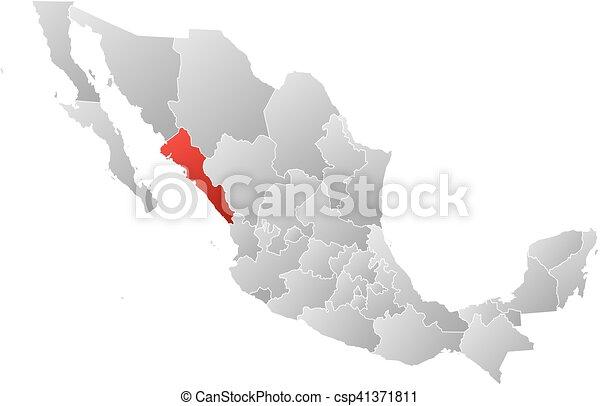map mexico sinaloa csp41371811
