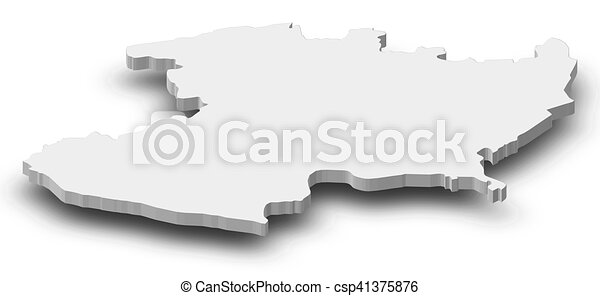 Map Michoacan Mexico Dillustration Map Of Stock - Michoacan mexico map