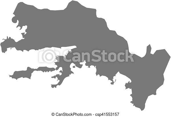 Map mugla turkey Map of mugla a province of turkey clipart