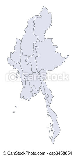 Map Myanmar - csp3458854